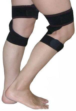 膝痛サポーター横