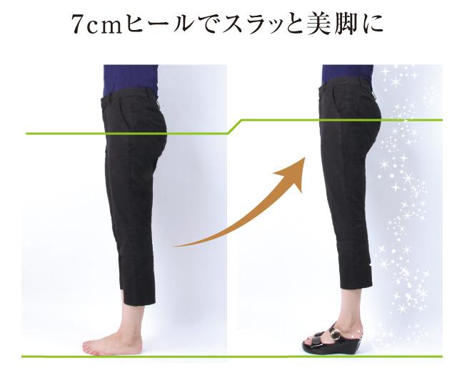 7cmインソールでスラット美脚に、しかも歩きやすい
