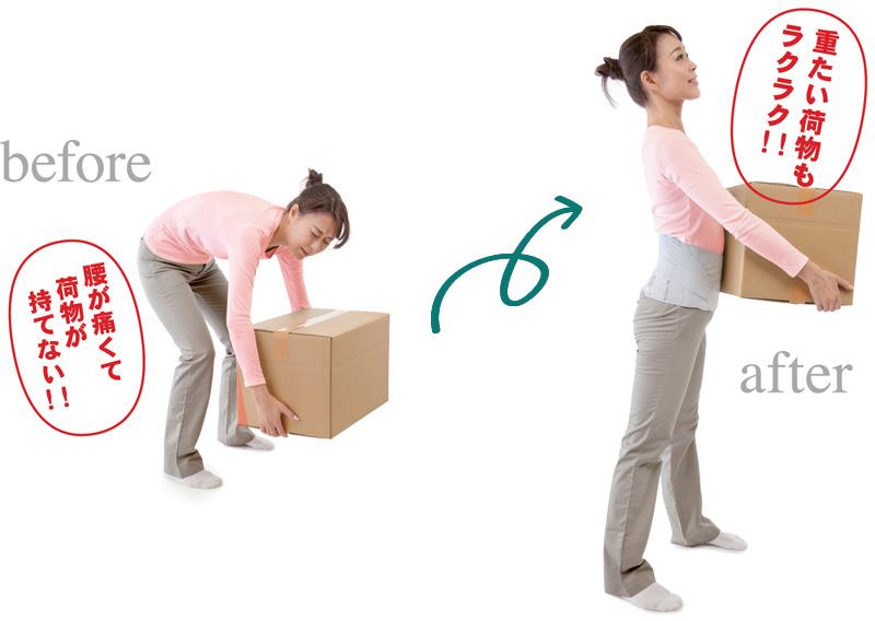 立ち仕事や家事、スポーツに!重たい荷物もらくらく!