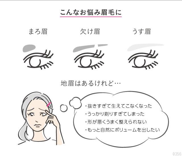 眉毛のお悩み、まろ眉、欠け眉、うす眉が自然な眉毛に