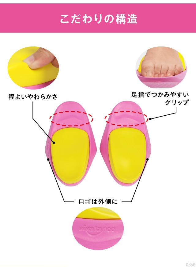 こだわりの構造、足指でつかみやすいグリップ
