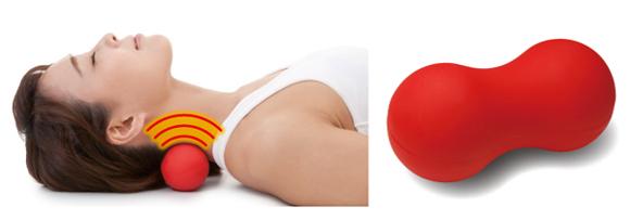 首、腰、背中、お尻、太もも、ひじ裏、足裏、ふくらはぎに、7cm間隔が首から腰までピンポイント指圧