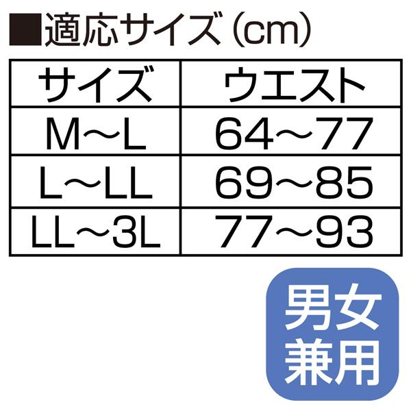 適応サイズ、M〜L、L〜LL、LL〜3L