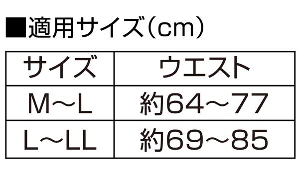 適応サイズ、M〜L、L〜LL